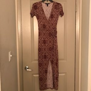 Forever 21 Paisley wrap dress